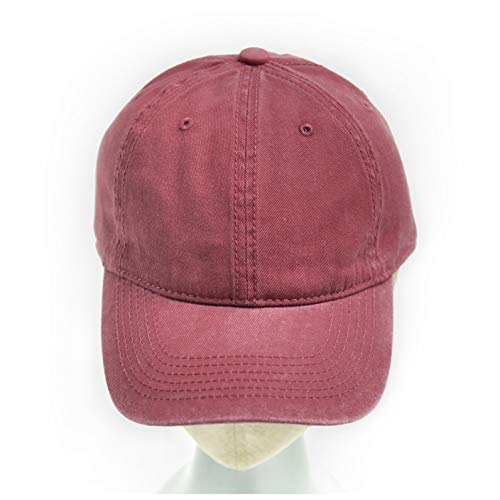 Ladies Washed Twill Cap - accsa Ladies Washed Twill Cap Claret red