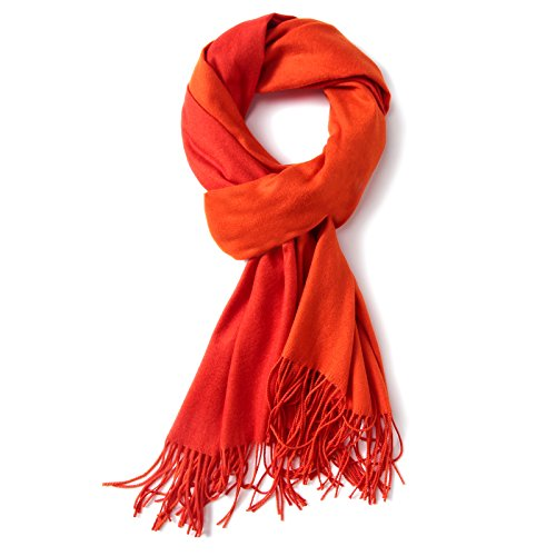 Ladies Wool Shawl Pashmina Scarves Cashmere Winter Scarfs for Women Shawls Wraps (Red)