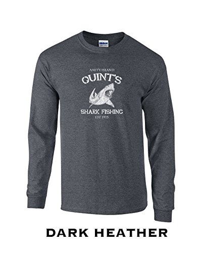 ad2fd852e8 Swaffy Tees 47 Quints Shark Fishing Funny Adult Long Sleeve T Shirt