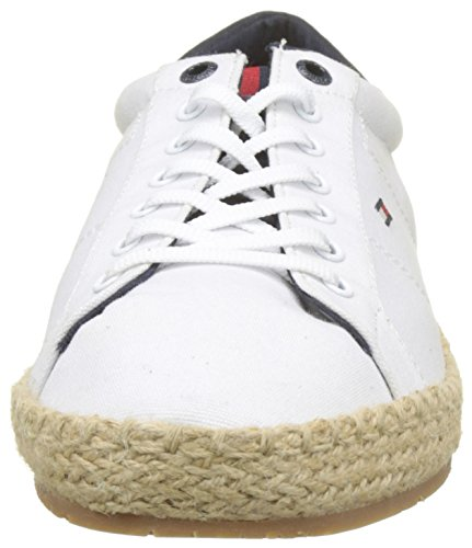 Basse Ginnastica Bianco Textile Up Hilfiger da Scarpe Lace Espadrille White 100 Uomo Tommy Tqg8wA