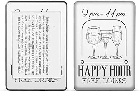 igsticker kindle paperwhite 第4世代 専用スキンシール キンドル ペーパーホワイト タブレット 電子書籍 裏表2枚セット カバー 保護 フィルム ステッカー 016053 ワイン お酒 英字