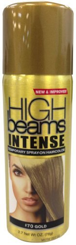 High Beams Intense Temporary Spray On Hair Color - #70 Gold 2.7 oz. (Pack of 2) -