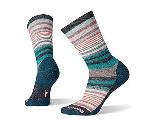 Smartwool Jovian Stripe Crew Socks - Women's Medium Cushioned Merino Wool Performance Socks