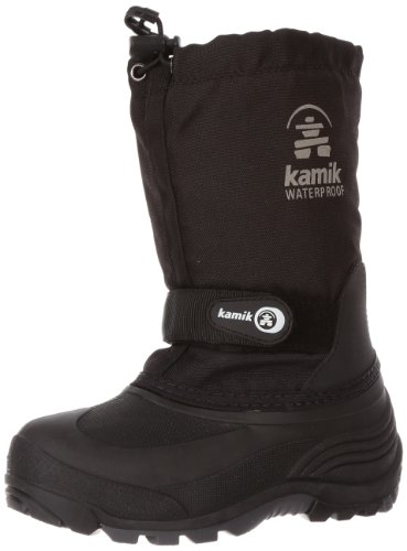 Kamik Waterbug 5 Cold Weather Boot (Toddler/Little Kid/Big Kid),Black,8 M US Toddler