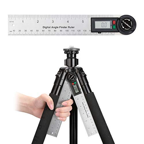 FLOUREON Digital Protractor Angle Finder,7-inch Protractor(DL600 Stainless Digital Angle Ruler),Digital Protractor Goniometer 360°