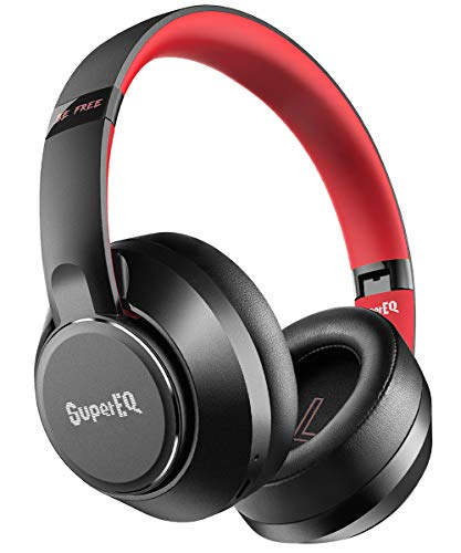 Hybrid Active Noise Cancelling Headphones-SuperEQ S1 Bluetooth 5.0 Over Ear Wireless Wired Headset with Ambient Mode…