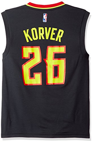 NBA Atlanta Hawks Kyle Kover #26 Men's Replica Road Jersey, Small, Gray
