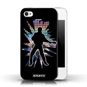 KOBALT? Protective Hard Back Phone Case / Cover for Ipod Touch 4 | Elvis Black Design | Rock Star Pose Collection