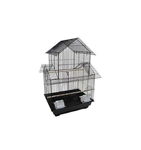YML 18-Inch by 14-Inch Small Pagoda Top Bird Cage, Black