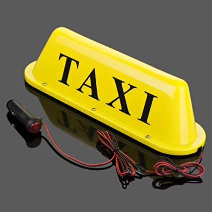 Cartel taxi resistente al agua para coche taxi Top Luz Base ...