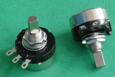 Isali Electronic - RV24YN20F B102 B202 B502 B103 B503 B104 B504 RV24YN 2W Half Shaft Game Machine Rotary Carbon Film Potentiometerx 10PCS - (Resistance: 5K Ohm)