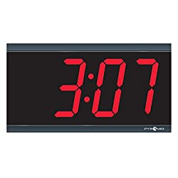 Pyramid Extra Large 4 numeral Red LED Digital Clock, 4-Digit, 110V, 6' cord, Made in USA (DIG-4B)
