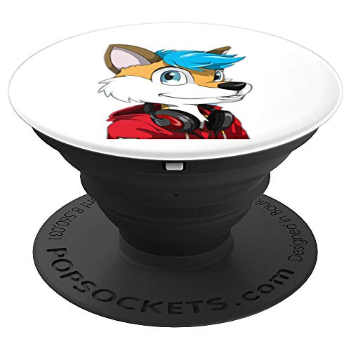 Furries Animal Character Costume Furry Avatar - White - PopSockets Grip and Stand for Phones and -