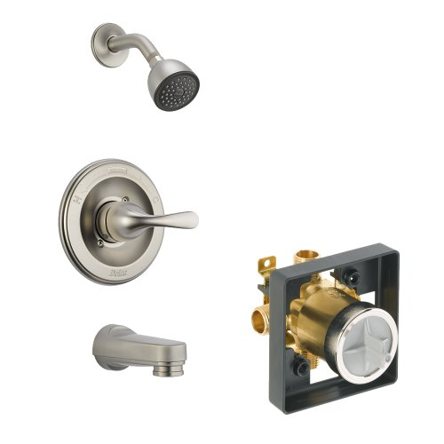 Delta Delta KTSDCL-T13420PDSOS-SS Classic Tub/Shower Kit Pressure-Balance Single-Function Cartridge, Brilliance Stainless Brilliance Stainless Classic Pressure Balance Shower