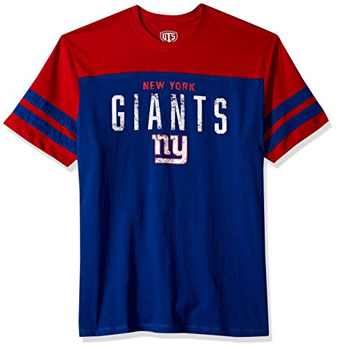 NFL New York Giants Male NFL OTS Cotton Yoke Stripe Tee, Royal, X-Large