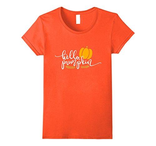 Womens Hello Pumpkin Fall Season Shirt Pumpkin Patch Outfit Small (Womens Pumpkin Outfit)