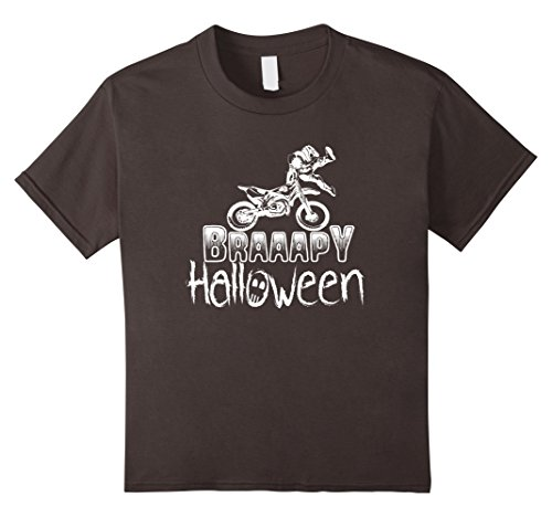 Kids Braaapy Halloween costume motocross dirt bike T-Shirt 8 Asphalt