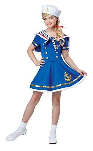 California Costumes Sunny Sailor Girl Costume, Blue/White, ()