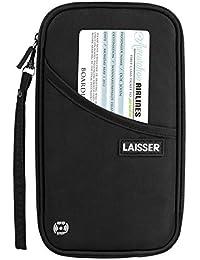 Travel Passport Wallet RFID Blocking Document Organizer Bag, Family Ticket Holder