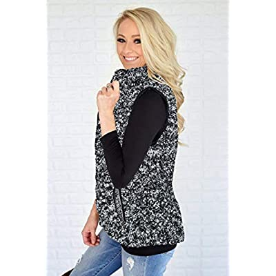 AIMICO Womens Sherpa Fleece Vest Fuzzy Warm Sleeveless Zip Up Casual Coat with Pockets at Women's Coats Shop