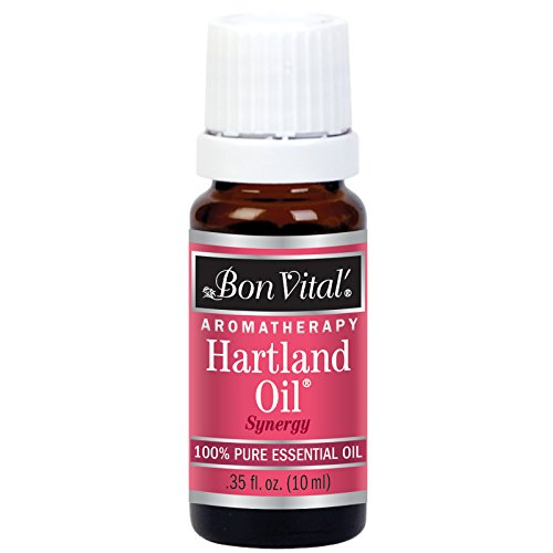 Bon Vital' Aromatherapy Hartland Essential Oil, Undiluted Therapeutic Aroma Oil for Aroma Therapy Diffuser or Diffuser Necklace, Therapy Oil for Clarifying and Invigorating Relaxation, 10 mL