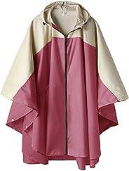 SaphiRose Poncho de Lluvia Impermeable Chaqueta de Abrigo para Adultos con Capucha y Cremallera