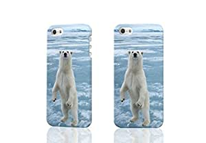 Cute polar Bear Photo Hard 3D Rough Case , Fashion Image Case Diy, Personalized Custom Durable 3d Case For iPhone 5 & iPhone 5S