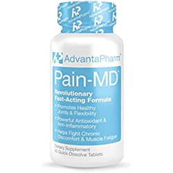 PAIN-MD, Top Pain Relief Supplement, Fast Acting Natural Formula for Joint Pain Relief and Muscle Discomfort, More Flexibility with Anti-Inflammatory Benefits, 90 Capsules