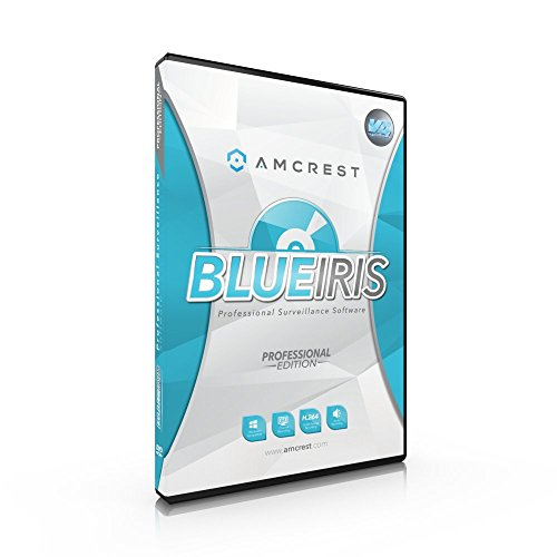 Amcrest Blue Iris Professional Version 4 - Supports Many IP Camera Brands Including Amcrest, Zone Motion Detection, H.264 Compression Recording, E-mail And SMS Text Messaging Alerts!