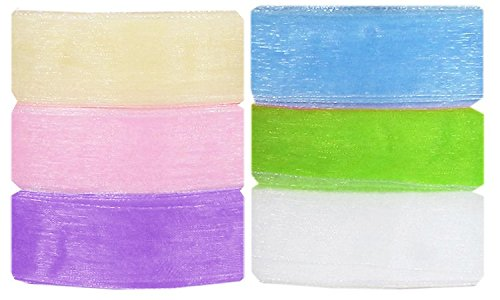 Ship From USA--Hip Girl Boutique Solid Ribbon Value Pack (300yd(6x50yd) 1