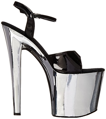 Black Women's Sandal Chrome Silver Platform 821 Ellie Shoes zPq5wAYq