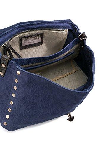 Wildleder Handtaschen 61380348 Zanellato Damen Blau A1awvq