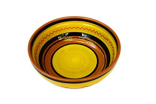 Terracotta Yellow, Deep Dish - Hand Painted From Spain by Cactus Canyon Ceramics
