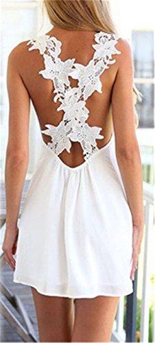 2018 encaje CXSM verano En clothes de XL blanco el de vestidos R8r8Xcq