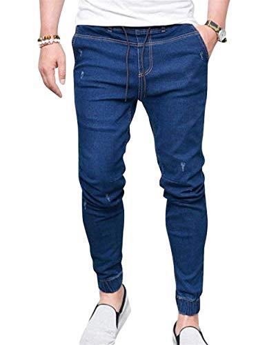 Especial Fashion Uomo Fit Slim Taglio Vintage Denim Pantaloni Dritto In Blau1 Estilo Dritti Da Jeans 8F7x4