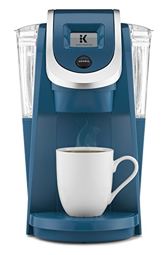 (Keurig K250 Single Serve, K-Cup Pod Coffee Maker with Strength Control, Peacock Blue)