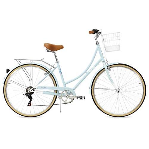 FabricBike Step City- Bicicleta de Paseo Mujer, Bicicleta Urbana Vintage Retro, Bicicleta de Ciudad Estilo Holandesa con Cambios Shimano y Cesta. Sillín Confortable. a buen precio