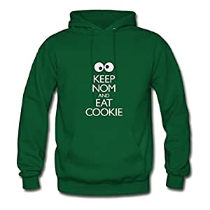 Theresawilkins Women Keep Nom And Eat Cookie Painting Sweatshirts (x-large,green)