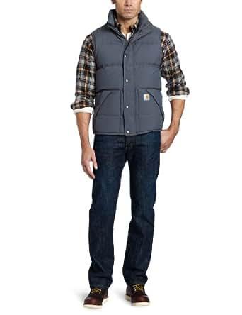 Carhartt Men's Big & Tall Down Kalkaska Vest,Gravel  (Closeout),X-Large Tall