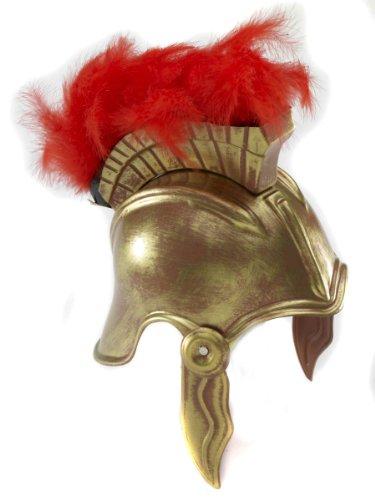 Forum Novelties Roman Legion Costume Helmet with Crest, Gold, One Size