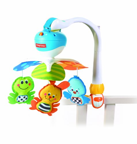 Love English Toy - Tiny Love Take Along Mobile, Animal Friends, Blue