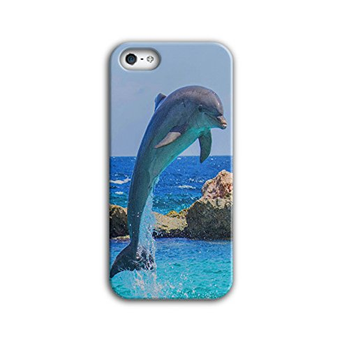 Funny Jumping Dolphin Smart Fish NEW Black 3D iPhone 5 / 5S Case | Wellcoda