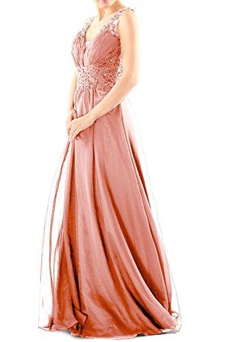 Gown Zartrosa Lace MACloth Neck Evening Ball Party Women Dress Chiffon V Prom Long Formal qpAwB4O7