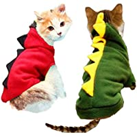 BEESCLOVER Winter Cat Clothes Pet Dragon Costume Clothes Cat Coat Jacket Hoodies Teddy Jersey Puppy Outfit Clothing Dressing Up 25 S1