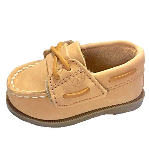 Kid's Authentic Original Crib Jr Hook And Loop Boat Shoe - Velcro, Slip-on 3 M Infant ()