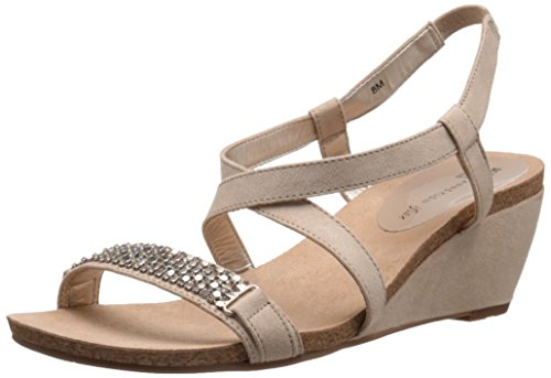 Anne Klein Jasia de las mujeres sandalias de cuña Light Natural