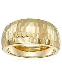 14k Yellow Gold Italian Diamond-Cut Dome Band Ring
