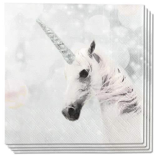 Ambiente Napkins Motive: Unicorn - Unicorn White 33x33cm, 3lagig 20 Piece Pack