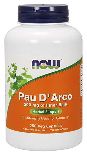 Now Foods PAU D Arco 500 mg 250 Capsules
