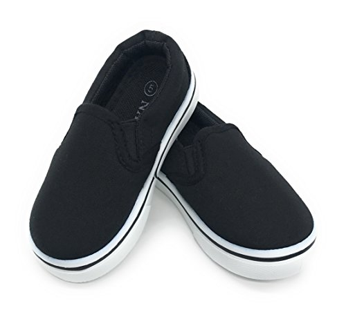Baby Boat Shoes (Blue Berry EASY21 Infant Toddler Boat Shoes Loafer Kids Shoes Slip-On,Black11,4)